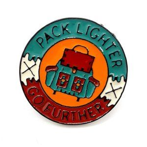 Pack Lighter Go Further Pin Badge Brooch